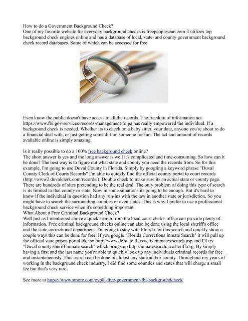 free background check gov website