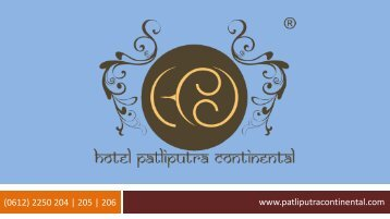 Hotel Patliputra Continental – Best Luxury Hotel in Patna