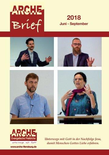 Gemeindebrief ARCHE Juni - Sept. 2018