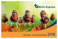 Sommer- und Herbstreisen Berlin Express 2018