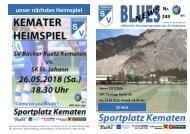 Blues Heimspiel, der SC Imst ist zu Gast.