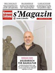 s'Magazin usm Ländle, 13. Mai 2018