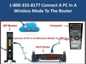 1-800-335-8177 Connect A PC In A Wireless Mode To The Router