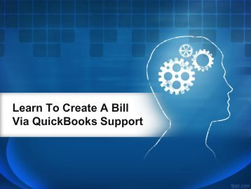 learn to create a bill via quickbooks support