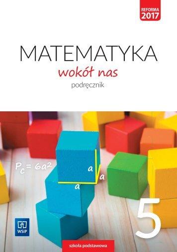 Matematyka wokół nas Podręcznik klasa 5