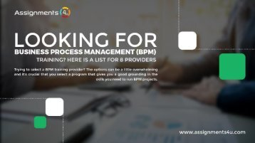 8 Business Process Management (BPM) Training Providers