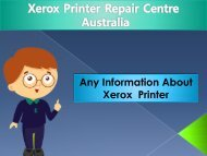 Fuji Xerox printer Repair Centre Australia