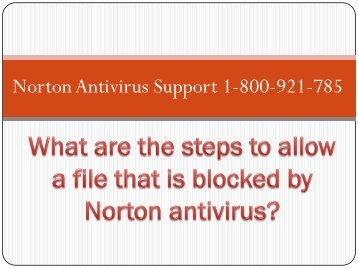 What are the steps to allow a file that is blocked by Norton antivirus