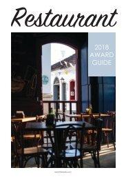 Travel & Hospitality Awards | Restaurants Winners 2018 | www.thawards.com