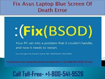 Fix Asus Laptop Blue Screen Of Death Error