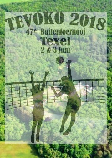 Programmaboekje Tevoko Volleybal Buitentoernooi 2018