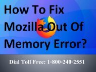 How to Fix Mozilla Out Of Memory Error 1-800-240-2551 Toll free