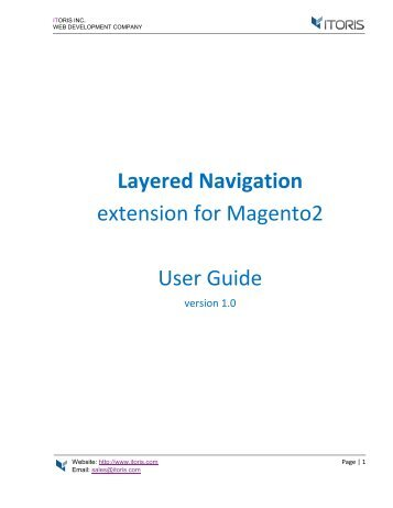 Magento 2 Layered Navigation Extension by ITORIS INC
