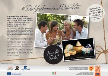 Der Geschmack von Dolce Vita_SavetheDate_Koch- und Küchenparty 11.06.18