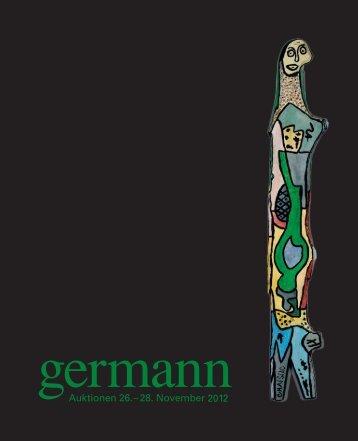 Kunst Auktion 26. - 28. November 2012, Germann Auktionshaus, Zürich