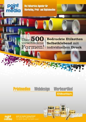Etiketten 2018 - Prospekt - point of media Verlag