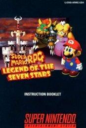 Super Mario RPG Manual Super Nintendo Snes