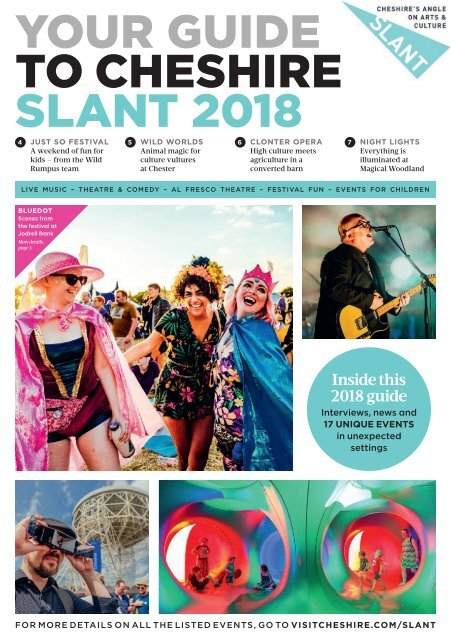 Your Guide to Cheshire SLANT 2018