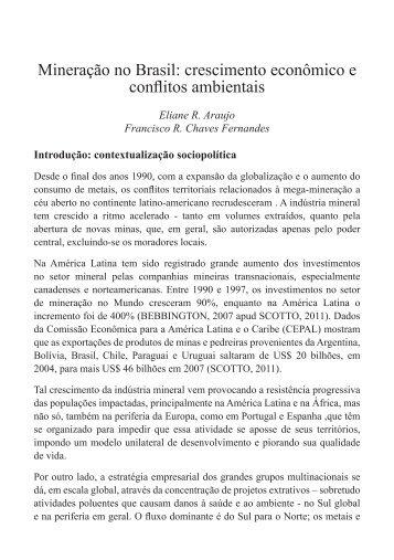Mineração no Brasil e Conflitos Sociais