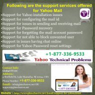 Yahoo mail service support number 1877-503-0107