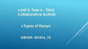 Unit 3: Task 6 - Third Collaborative Activity