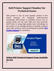 Dell Printer Support Number for Technical Issues