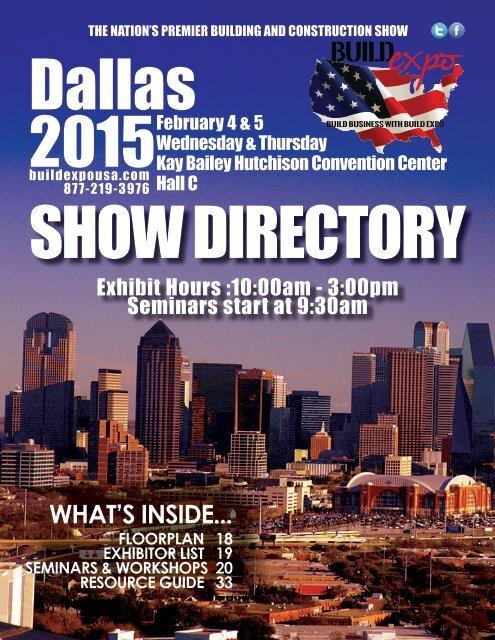 Dallas 2015 Build Expo Show Directory