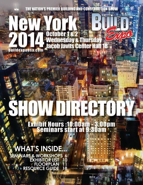 New York 2014 Build Expo Show Directory