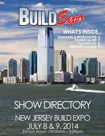 New Jersey 2014 Build Expo Show Directory