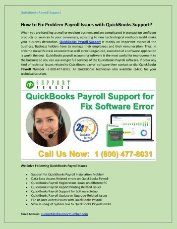 How to Fix Problem Payroll Issues with QuickBooks Support?