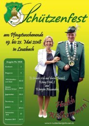 Schützenfest Leuzbach 2018 Festzeitung