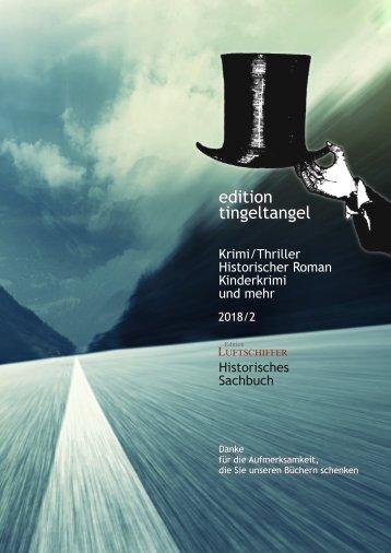 edition tingeltangel Verlagsvorschau 2018-2