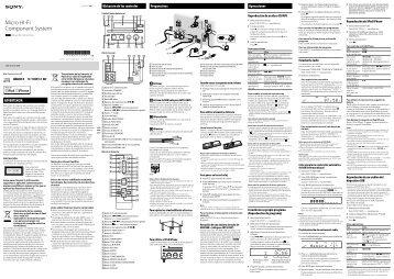 Sony CMT-G1BiP - CMT-G1BIP Consignes d'utilisation Espagnol
