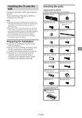 Sony KDL-55W829B - KDL-55W829B Informations d'installation du support de fixation murale Letton - Page 5