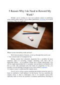 5 Reason Why I do Need to Reword My Work? - Page 2