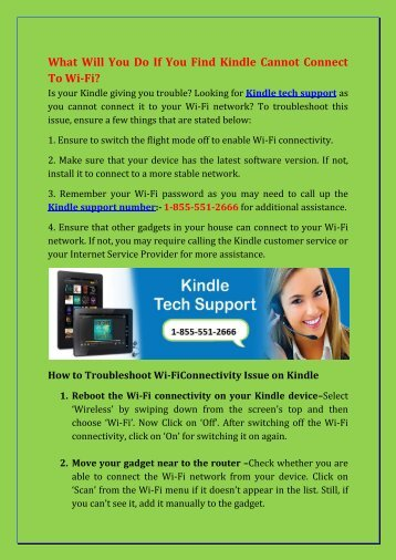 Kindle Fire Technical Support Number: 1-855-551-2666