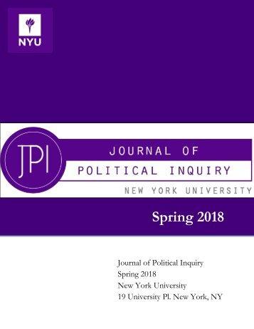 JPI Spring 2018