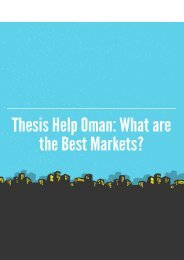 Thesis Help Oman: What are The Best Markets
