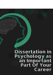 Dissertation in Psychology as an Important Part of Your Career