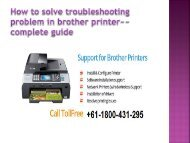 How to fix all in one troubleshoot in Brother Printer Call +61-1800-431-295