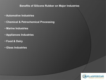 Silicone Rubber for Various Industries