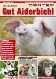 die gemeinnützige Gut Aiderbichl Stiftung Schweiz