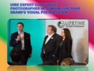 Hire expert Corporate photographer in London for your brands visual presentation