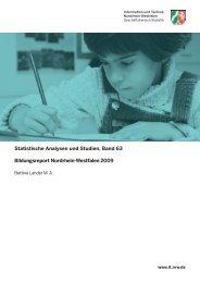 Bildungsreport Nordrhein-Westfalen 2009 - Publikationsservice von ...