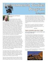 Environmental Studies Program Spring 2008 - Colgate University
