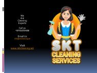 Deep Cleaning Services In Dubai | SKT Cleaning
