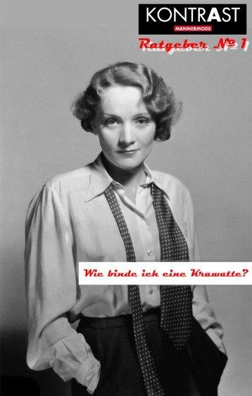 KONTRAST · Männermode | Ratgeber Nº 1 · Wie binde ich eine Krawatte?