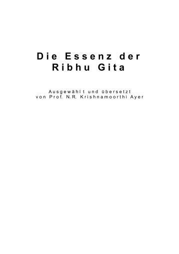 Die Essenz der Ribhu Gita