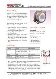 PTFE-Hochleistungskompensator - NeoTecha