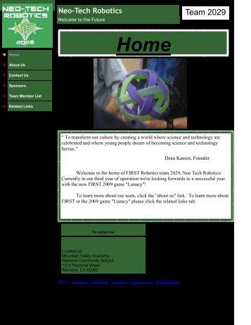 Neo-Tech Robotics - Ramona Unified School District